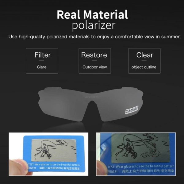 Myopic Cycling Sunglasses Polarized Changeable 5 Lens UV Protection