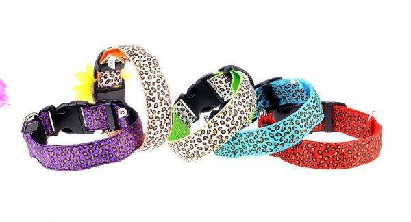 Leopard Style LED Dog Collar