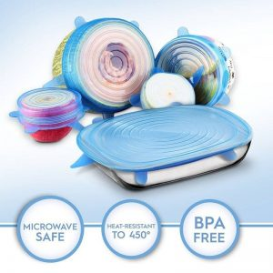 Reusable Silicon Stretch Lids 6 Piece Set