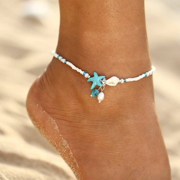 Bohemian Starfish & Shell Anklets For Women | Foot Bracelets