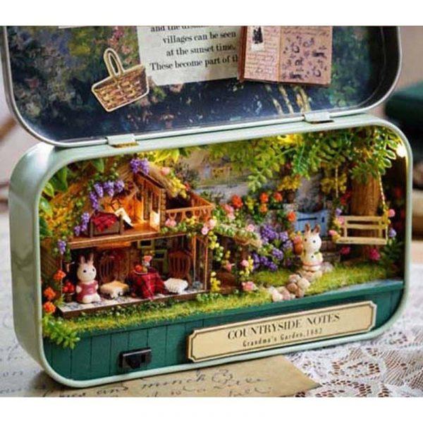 Cute 3d Doll House in a Tin Kits