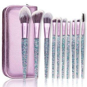10 piece Makeup Brush Kit With Bag | Makeup Brushes Set Kit