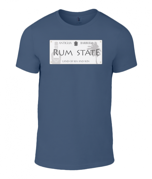 Mens Custom Antigua Rum State T Shirt