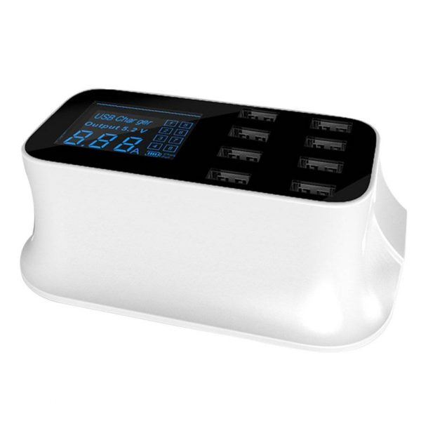 8 Port USB Smart Charger Station For All USB Devices [US /EU /UK Plug] + LED Display