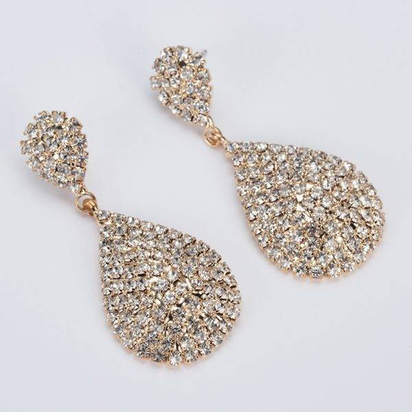 Women's Drop Shaped Crystal Earrings