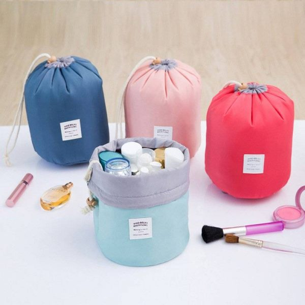 Women's Barrel Cosmetic Bag