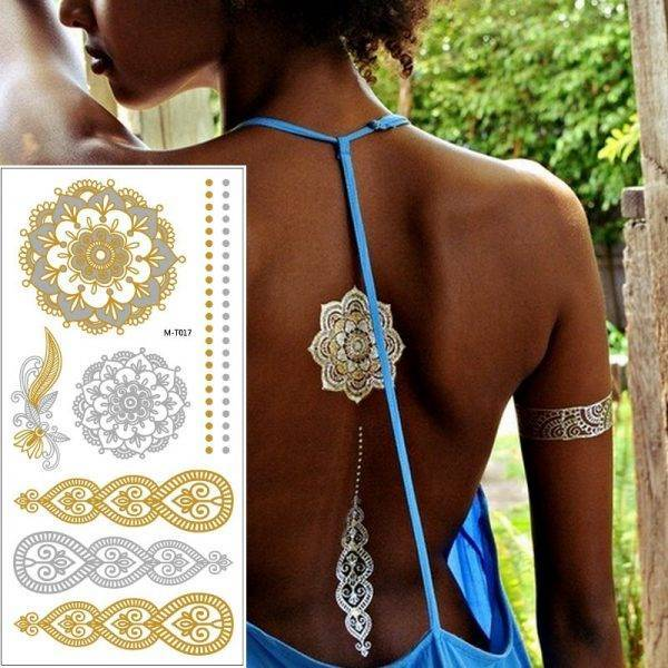 2019 New Fun Festival Holiday Metallic Tattoo Transfers