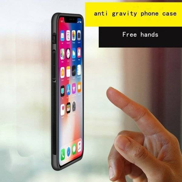 Anti Gravity Phone Case IT STICKS TO SURFACES Without Being Sticky!