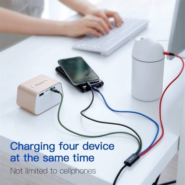 USB Fast Charge Cable Splitter [Apple Lightning and USB]