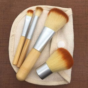 Bamboo Travel Makeup Brush Set Beauty