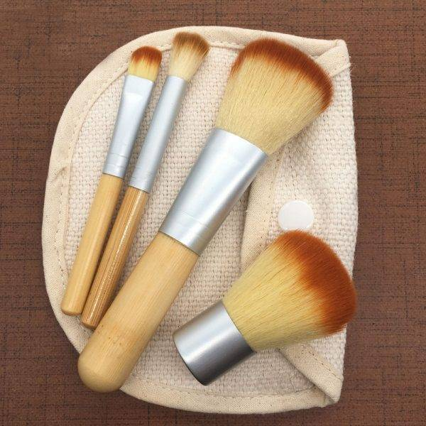 Bamboo Travel Makeup Brush Set