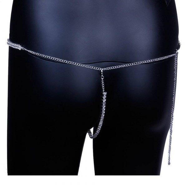 Sexy Underwear Belly Chain | Adjustable Rhinestone Waist Chain Belt | Holiday Body Jewelry