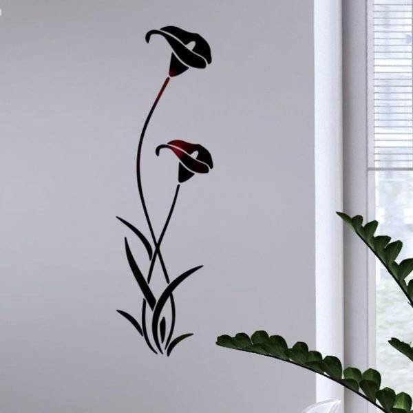 3D DIY Flower Acrylic Wall Sticker