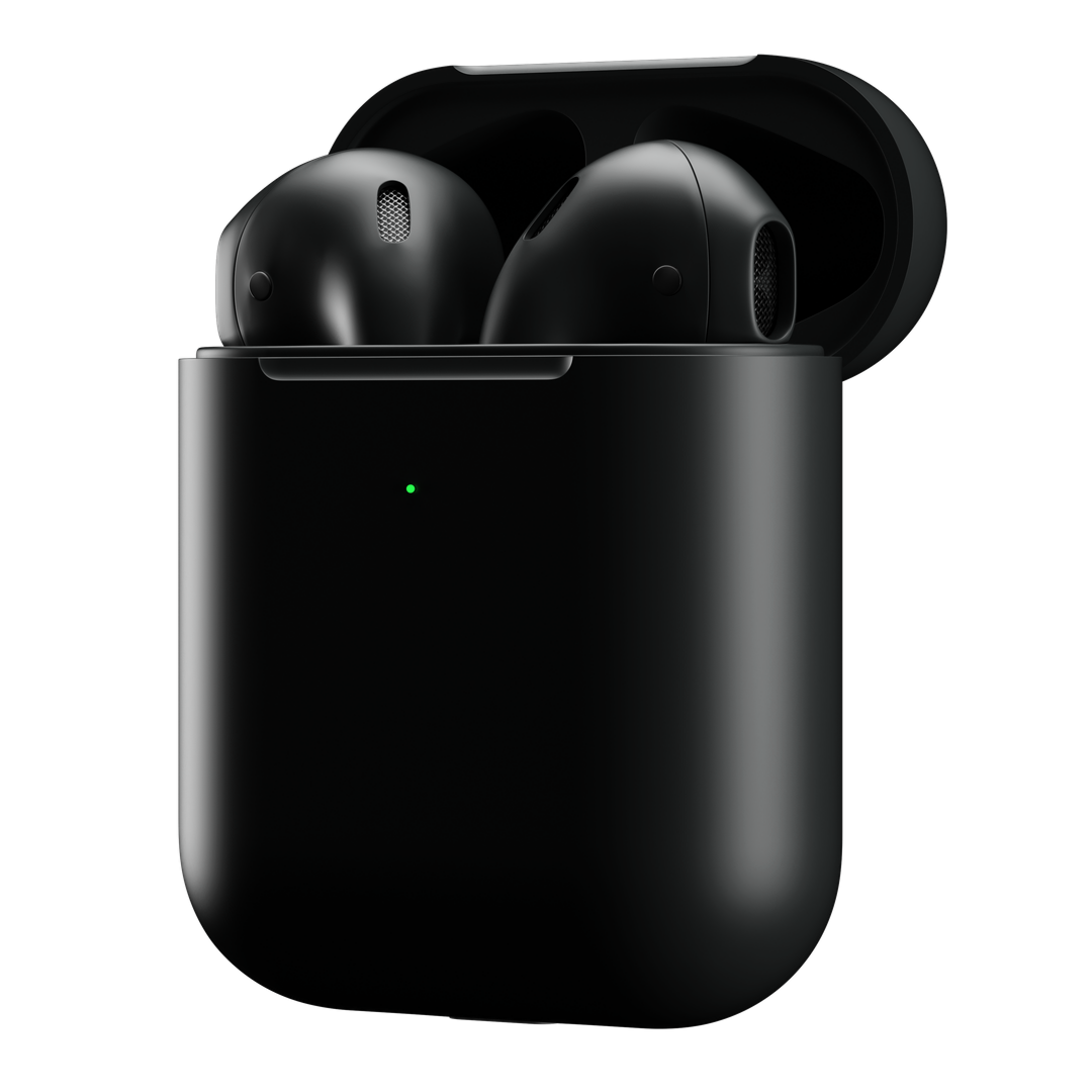 3/4 View black airpods