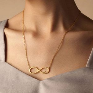 Infinity Name Necklace | Custom Romantic Jewellery | Gold Silver & Rose Gold