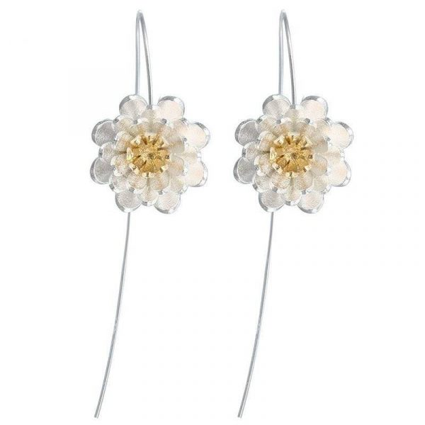 Long Flower Earrings