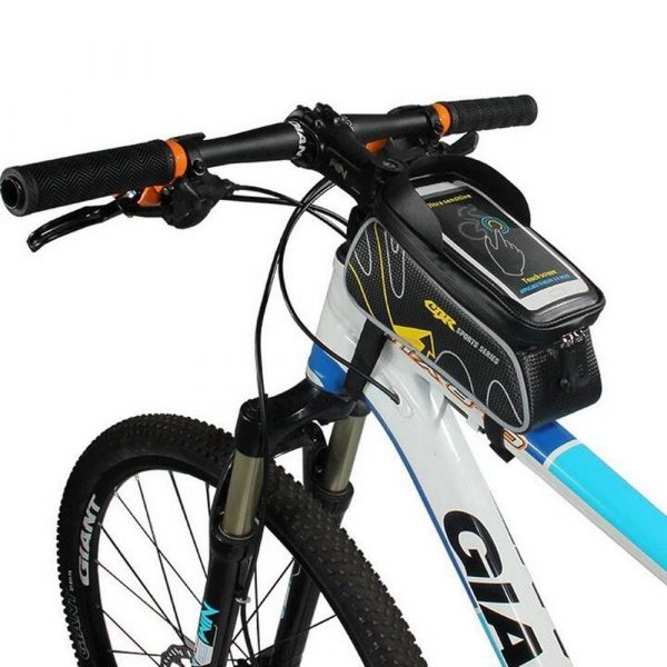 Waterproof Bicycle Front Tube Mobile & Stash Holder
