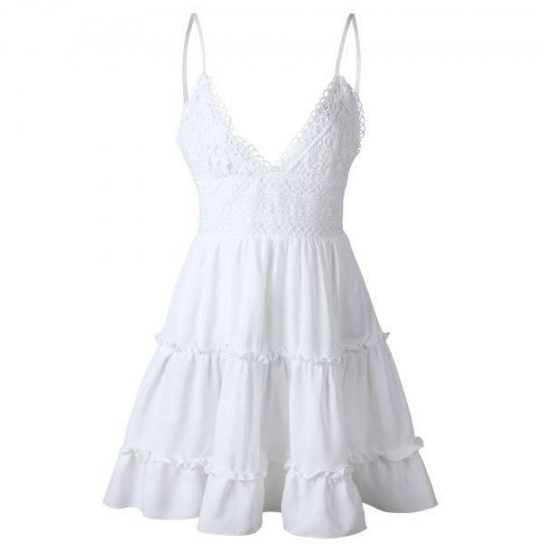 Beach Dress | Women's Lace Backless Summer Dress