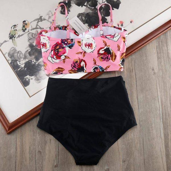 High Waist Plus Size Bikini Swimwear Women