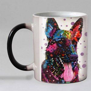 Heat Reveal Rainbow German Shepherd Mug House and Home