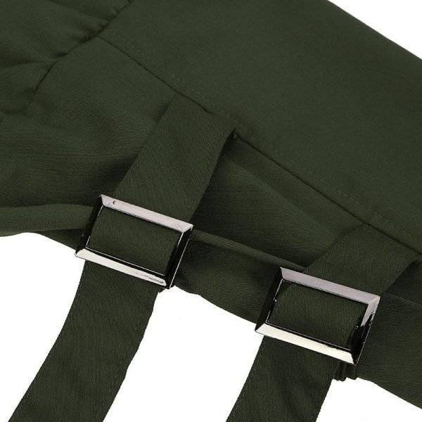 Vintage Harem Pants | Khaki Green Fashion Trousers