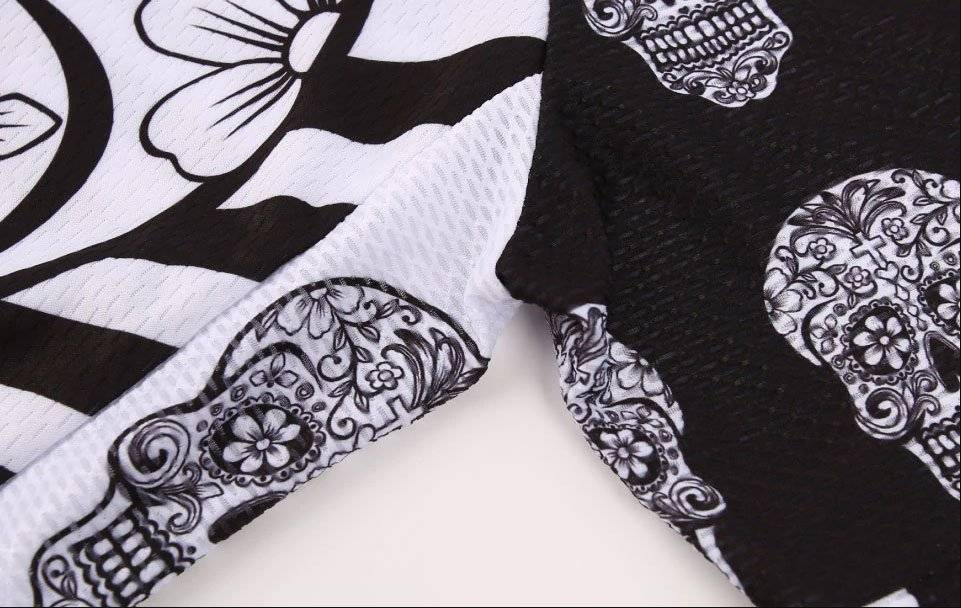 Themed Cycling Jerseys Skull Wolf Day of The Dead