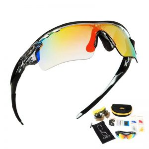 Non Slip Lightweight Unisex Polarized Protective Cycling Glasses | Multi Lense
