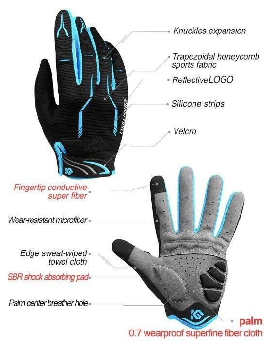 cycling gloves features