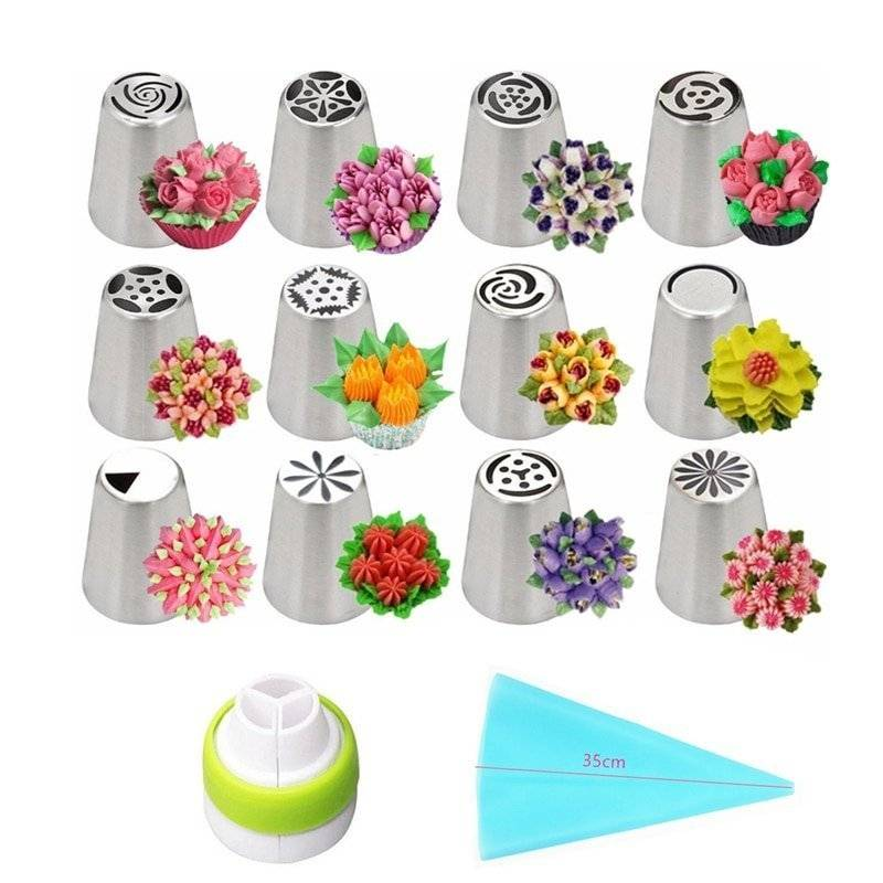 Cake Decorating Flower Icing Nozzles Set |Piping Stainless ...