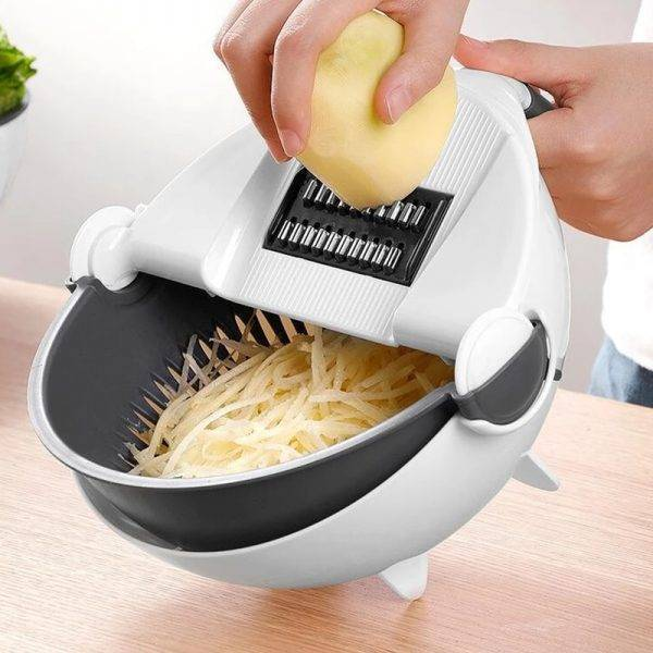 Genius Vegetable Slicer Cutter With Drain Basket