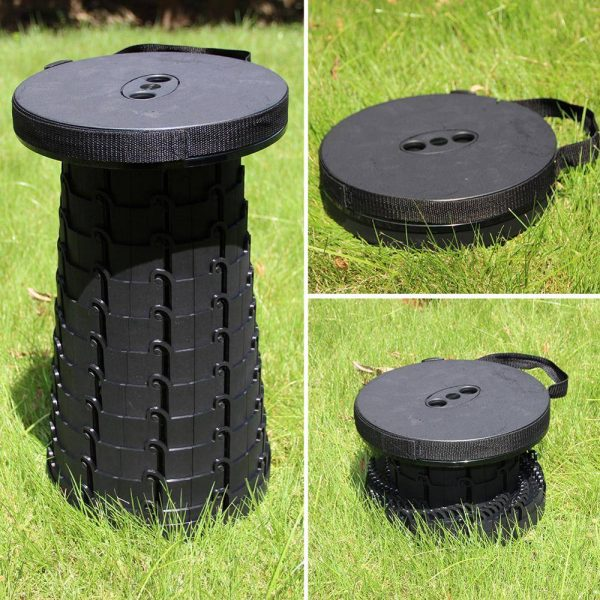 Telescopic Folding Stool For Sitting Anywhere Anytime