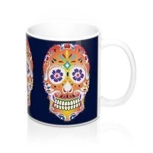 Fizzy Orange Dia De Los Muertos Coffee Mug