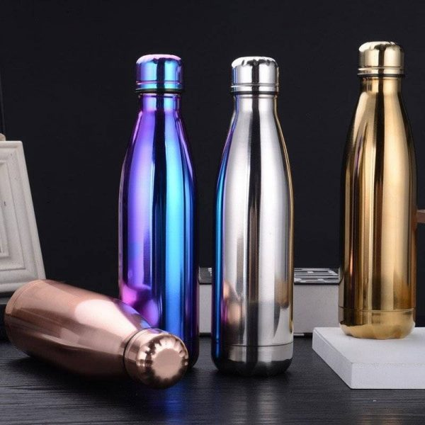 Pretty Stainless Steel Bottle Flask | Double Wall Vacuum Insulated Thermos Flask