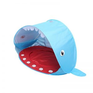 Popup Infant Beach Tent | Childrens Play Sunshade Shark Style