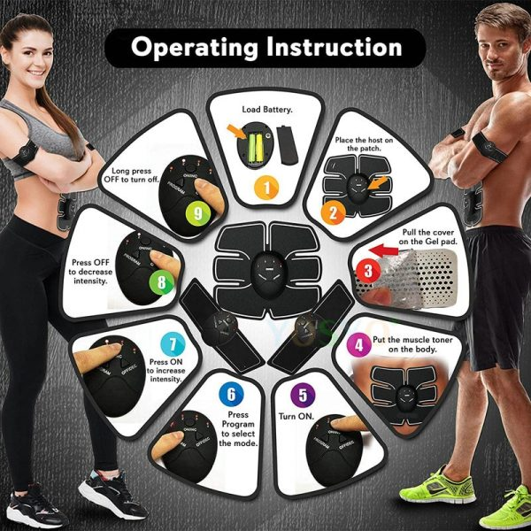 EMS Electrical Muscle Stimulator For Abdominal Muscle Development