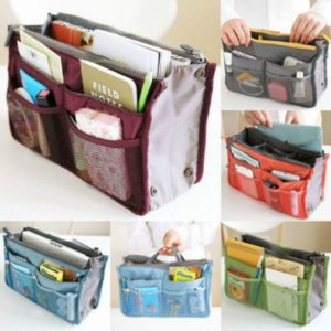*GENIUS* Handbag Insert Organiser Liner Tidy Bag Travel Bag Change Bags Fast NEW