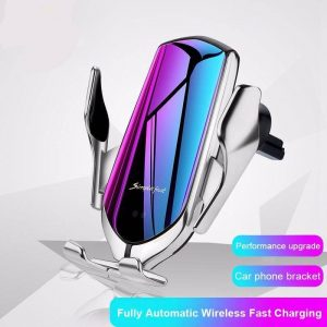 2 in 1 Elegant Automated Phone Holder & Wireless Charger