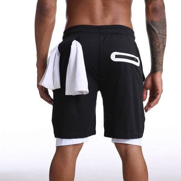 2 in 1 Training Shorts With Secret Mobile Pocket