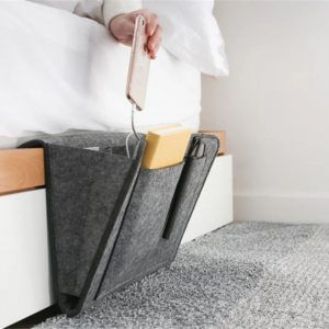 Hanging Bed or Sofa Storage Organizer Holder With Dividers