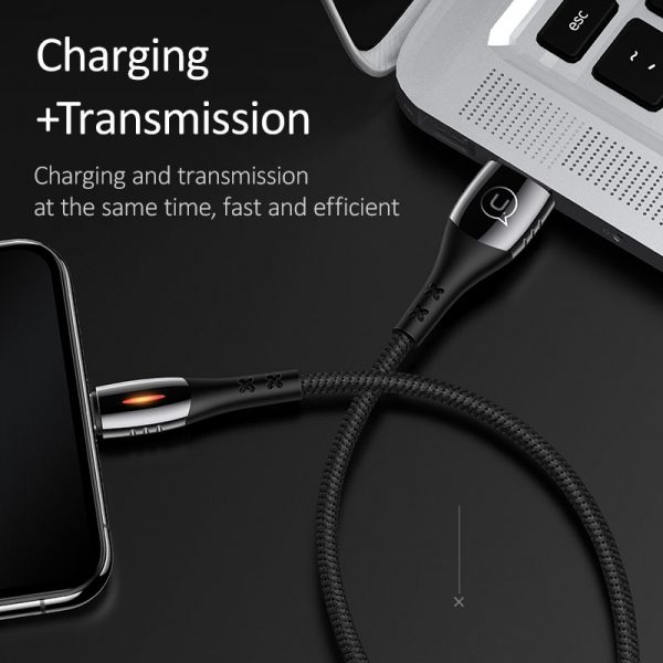 Smart Auto Off Fast Charging Lightning Cable for iPad iPhone X XS 8 7 6 6S