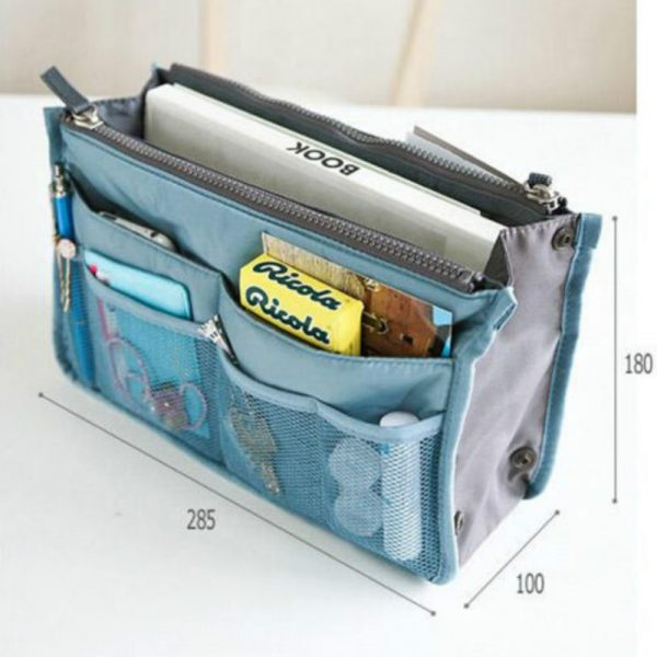 *GENIUS* Handbag Insert Organiser Liner Tidy Bag Travel Bag Change Bags Fast NEW