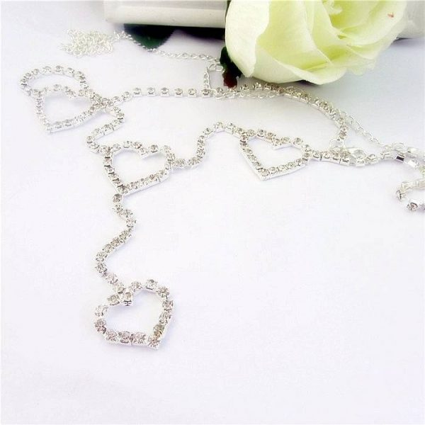 Heart to Heart Body Chain | Rhinestone Waist Chain