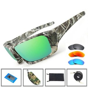 Unisex Fishing Sunglasses 4 Polarized UV Lens Tough Camouflage Body