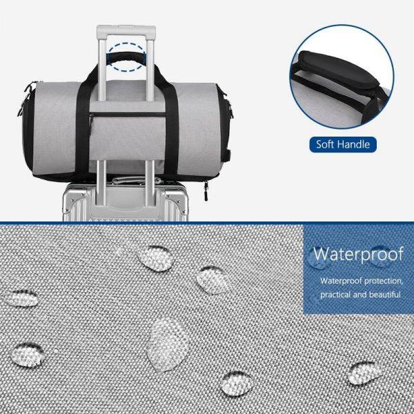 ROLLABAG Waterproof Weekender Travel Duffle Bag Shoe Pouch