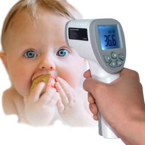 Digital Infrared Forehead Thermometer Baby to Adult (CE Certified) LCD Display Non Contact Body And Object Modes