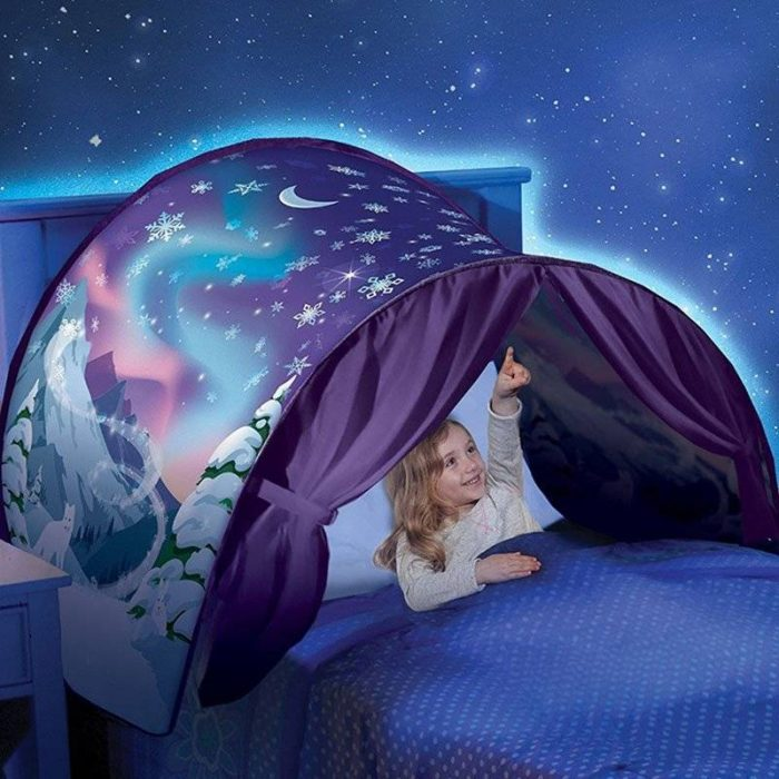 A fun way to spice up your child's bed. Pops up and clicks in place in seconds.