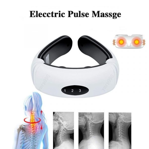Back and Neck Massager With Electric Pulse 6 Mode Massage Infrared Heating Pain Relief