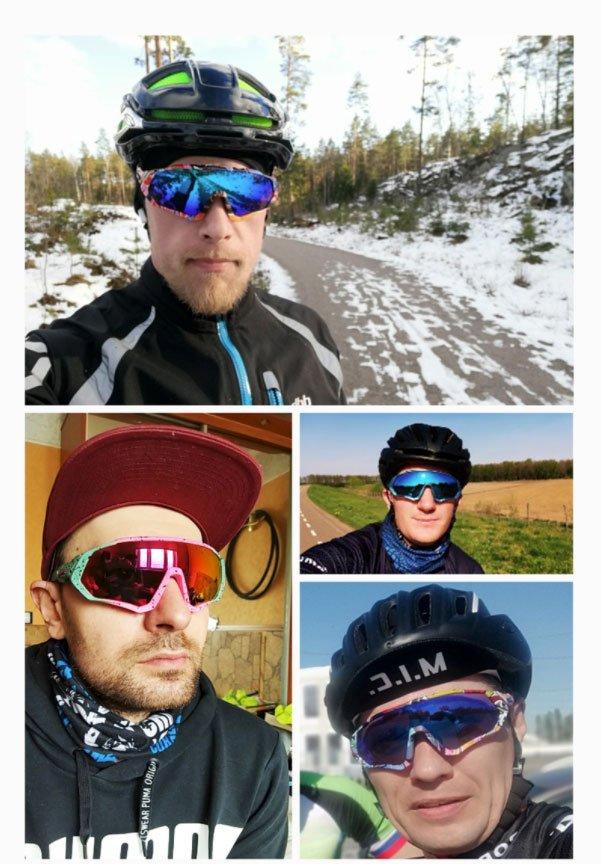 TR90 Polarized Sports Cycling Sunglasses MTB Mountain Bike Myopic Frame Fitness Sunglasses Sunglasses Cycling
