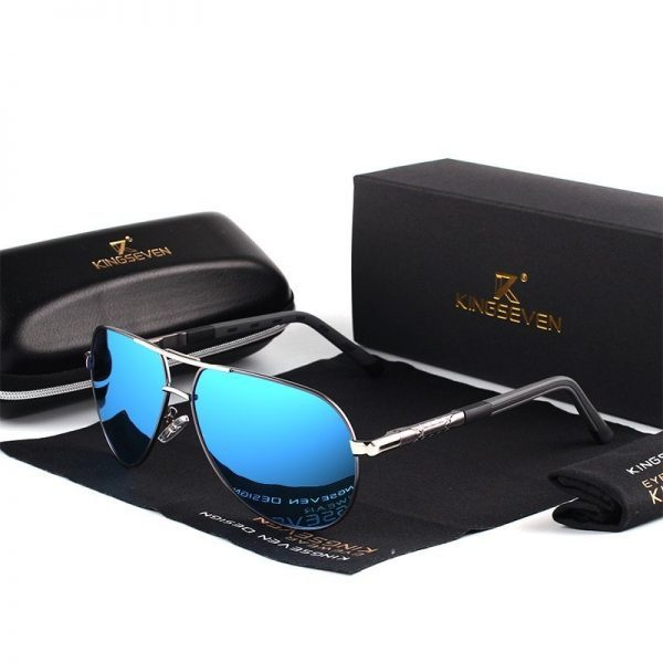 Stylish Aviator Style Sunglasses Performance Aluminum Frames Polarized UV Protection