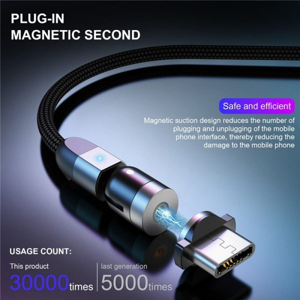 Magnetic Fast Charging Cable 360° Rotating Innovation